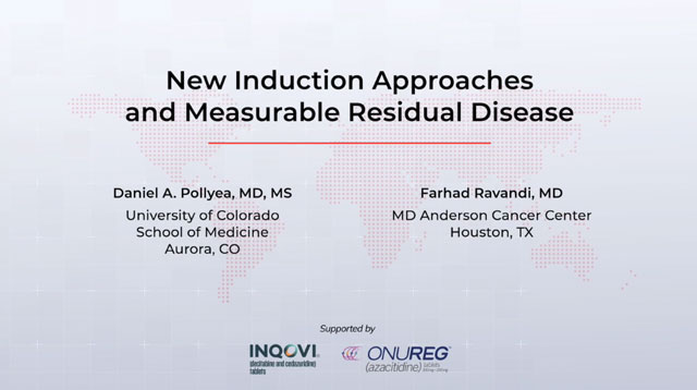 New Induction Approaches and Measurable Residual Disease in AML